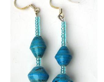 Easter Gift Idea, Dangle Earrings, Drop Earrings, Blue Earring's, Gift Earring, Handcrafted Earrings, Art Deco Earrings, Gift for Her
