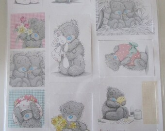 """set of 20 die cut figures of the well known bear """"me you"""" Me to You"""