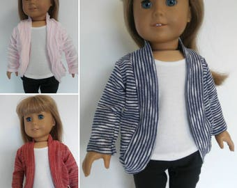 Slouch Cardigan for American Girl or other 18 inch dolls