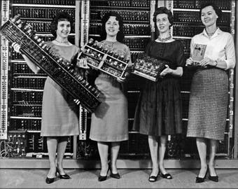 Poster, Many Sizes Available; Parts Of First Army Computers, L To R Eniac Edvac Ordvac Brlesc-I