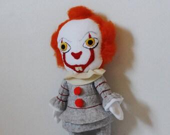 Pennywise Inspired Felt Doll IT Plush