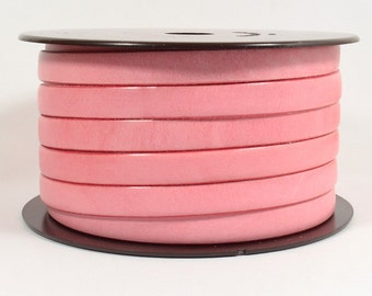 10mm Flat Leather - Pink - Choose Your Length