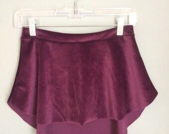 Adult Velvet Pull-On Ballet Skirt | Deep Purple