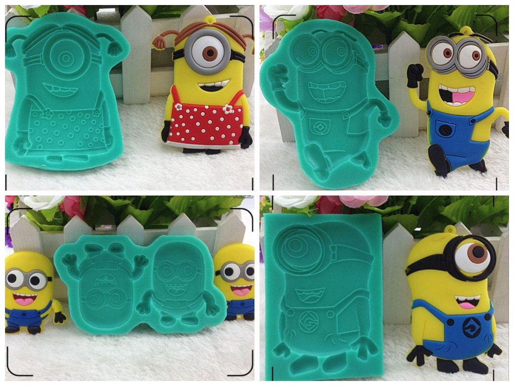Minions cake mold Girl Minions Cookies Jelly mold Minion