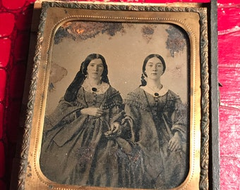 Tintype of Two Beautiful Women (6th Plate)