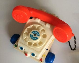 """Fisher Price phone, """"1961"""""""