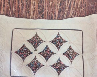 Cathedral Window Pillow, 1977 Quilt Design Sewing Kit, Finished Size 13 x 17 in, Original Unopened Package
