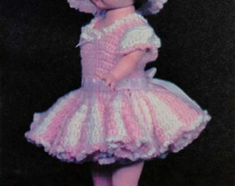 """Instant PDF Download Crochet pattern/ handsome doll outfit /18"""" doll clothes/ pattern doll dress / Vintage Crochet pattern – A349"""