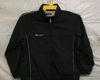 Sweater Windbreaker Sport Training CHAMPION AUTHENTIC  Black Sweater Windbreaker Champion Small Logo Size XL