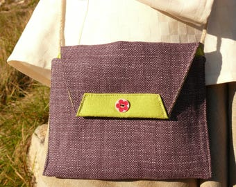 Linen and hemp shoulder bag