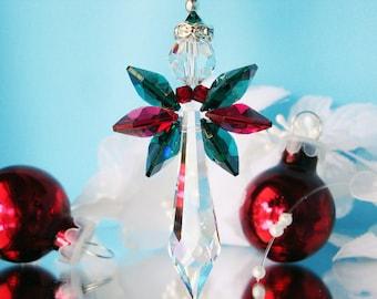 Angel Christmas Ornament Swarovski Crystal Rear View Mirror Charm Christmas Gift