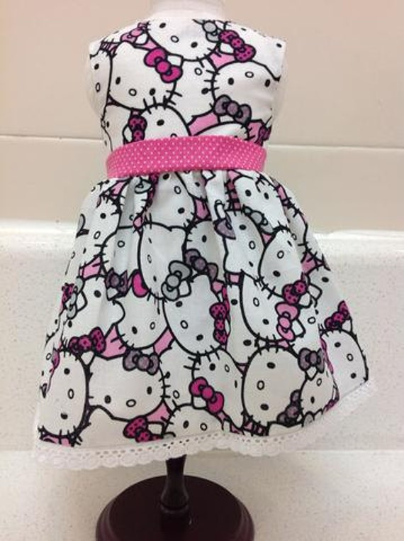 Hello Kitty Dress American Made 18 Inch Doll Clothes