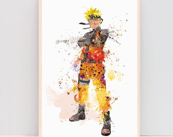 SALE! Naruto poster, anime art, naruto wall art, fanart, gifts for nerds, geek gifts, gifts for gamers, fandom merch, christmas gifts ET341