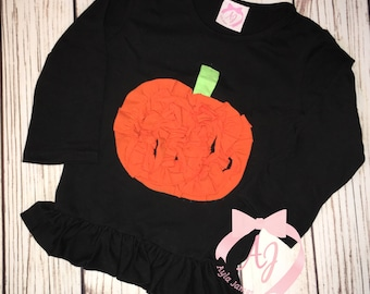 Pumpkin Ruffle Shirt