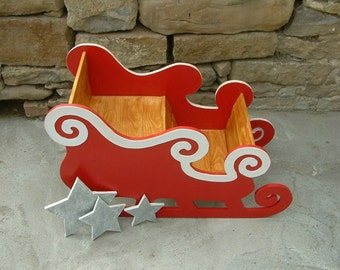 Santa's sleigh Wooden sleigh Bilateral Santa Claus sled
