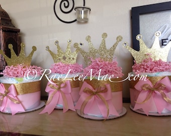 Princess or Prince diapercake package/Prince Baby shower decorations/princess baby shower decorations/little prince/little princess/crown