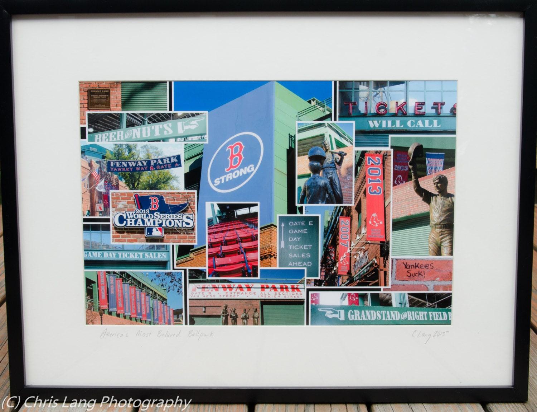 Fenway Park Collage donación de Jimmy Fund Dana-Farber