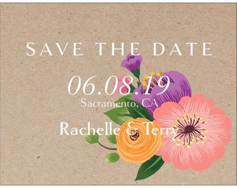 CUSTOM Save The Date Cards Rustic Wedding
