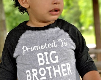 promoted to big brother shirt, big brother announcement shirt, soon to be big brother shirt, pregnancy announcement, big brother shirt,
