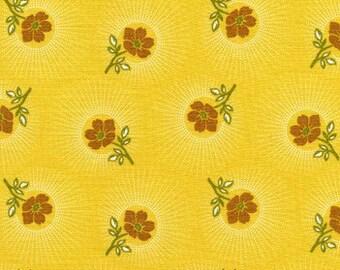 Sale - Deer Valley Floral Drop in Goldenrod by Joel Dewberry for Free Spirit - 1 Yard