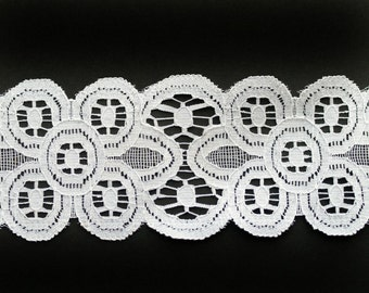 White Battenburg Lace Trim 2 7/8 inches wide 3 Yards