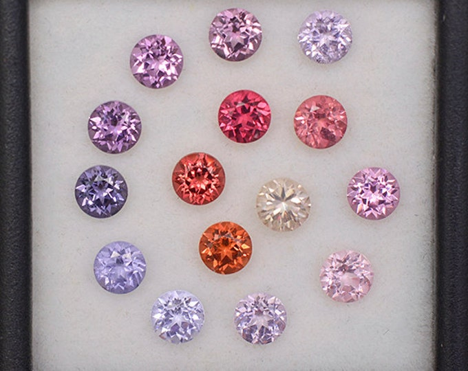 FLASH SALE! Fantastic Multi Color Spinel Gemstone Set from Burma and Sri Lanka 4.66 tcw.