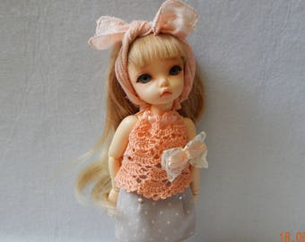 """Littlefee YOSD 25-26 сm BJD Outfit """"Autumn peach"""" for dolls of similar format"""
