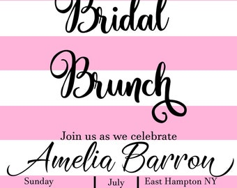 Floral bridal shower invitation. Printable Invitation