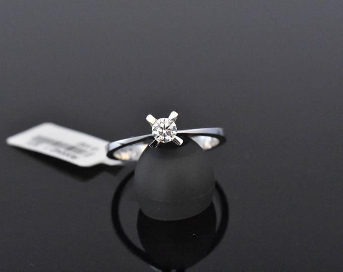 18K White Gold Diamond Solitaire   GIA Certified Diamond   Engagement Ring   Wedding Ring   Handmade Fine Jewelry   Bridal Ring