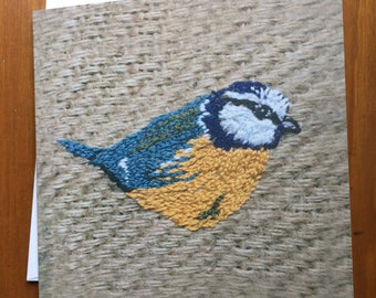 Blue tit greeting card