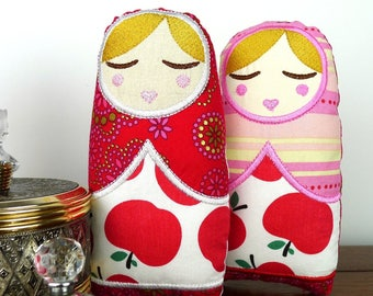 Anoushka Babushka Doll Toy 7inch In The Hoop Project Applique Machine Embroidery Design Pattern