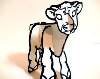 Color and Make Farm Animal Cow - Printable  Toy