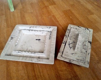 La Mirada Pottery Ash tray Cigarette box 1930's art deco Ceramic Pottery