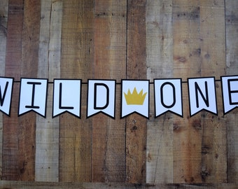 Where the Wild things are Inspired Banner, Wild One, Wild One Banner, Wild Things Banner, First Birthday, Birthday Decor, Photo Prop