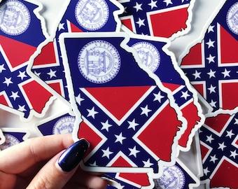 Georgia State Flag Vinyl Sticker