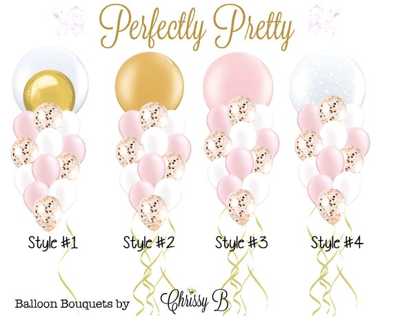 pink and gold princess giant balloon bouquet perfectly pretty rh etsy com Party Balloons Clip Art Vacation Clip Art