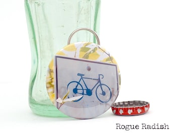 Bike Bottle Opener Keychain - Original Photo - Bicycle Accessory - Made in Vermont - Gift for Cyclist - Bike Lovers Favorite