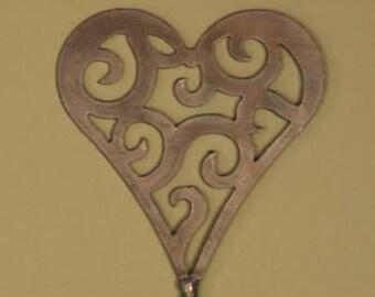 Celestial Heart Steel Garden Stake - Valentines Day