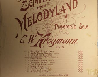"1898 Sheet Music, ""The Rainbow Fairy"""