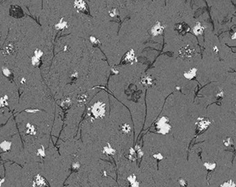 SALE - Sill Life - Silver Floral from P & B Textiles