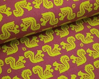 "0,5 m japanese fabric ""Pop Art Squirrel"" 110 cm br. Kokka"