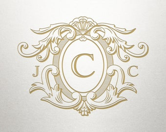 Monogram Crest Design  - Highlands Crest -  Monogram Crest - Digital