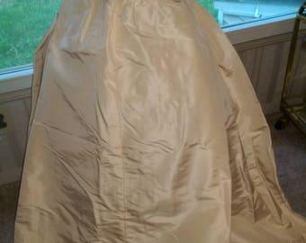 Formal White Taffeta Hostess Skirt