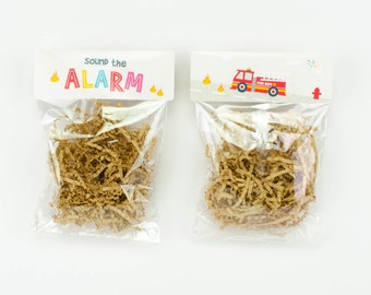 Printed Favor Bag Toppers - Fire Truck