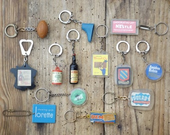 Keychain advertising french vintage / antique advertising Collection