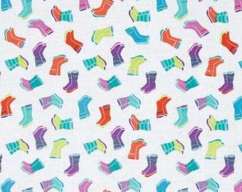 Patchwork fabric Timeless treasures rain boot