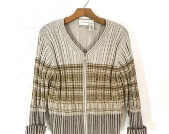 90s Clothing VINTAGE Clothing Striped Sweater 90s SWEATER Sweaters for Women CARDIGAN Women Cardigan Sweater 90s Grunge Clothing 90s Grunge