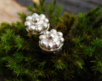 Sterling Silver Daisy Post Earrings