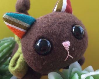 Brown Soft Palm-sized Kitten Plush Toy