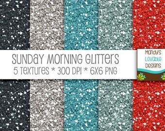SALE - High Resolution Glitter Textures - Digital Scrapbooking Cards Invitations - Printable - Sunday Morning - 300 dpi - CU OK